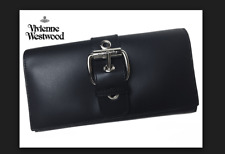 vivienne westwood long leather wallet with chain ALEX BUCKLE CLUTCH bag MSRP$299
