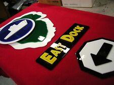 3D EAST DOCK pop ART sign set NEW Jurassic Park  T - REX NEW world dinosaur