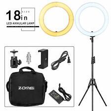 """18"""" LED Studio Ring Light Dimmable Light Photo Video Lamp Kit For Camera Shoot"""