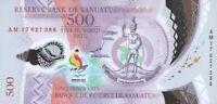 Vanuatu 500 Vatu 2017 / 2019  Comm. Pacific Mini Games P New Polymer UNC