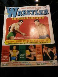 EXC Vintage WRESTLER Wrestling Magazine WWWF NWA 1969 AWA Kiniski Bruiser Ladies