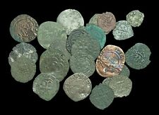 Lot of 25 Medieval Billon and Copper coins, mostly France