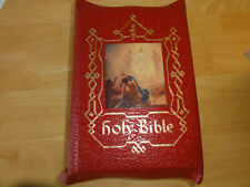 1954 - Holy Bible Catholic Press Deluxe Edition, Red Flexible Leather Cover