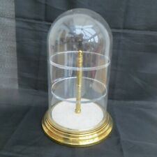 """APPROX 9"""" TALL BY 6"""" DIAMETER DOME DISPLAY CASE / STAND WITH TWO TIERS AS PHOTOS"""