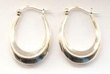 Stunning 925 Sterling Silver Round Dangling Big Hoop Loop Ear Rings Plain Big