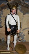 1/6 Marx Reproduction CUSTOM Viking Warrior in White w Knights Head Loose