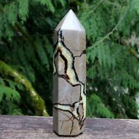 NATURAL SEPTARIAN CRYSTAL POINT TOWER POLISHED DRAGON EGG HEALING GEMSTONE