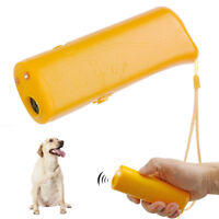 Anti Barking Dog Ultrasonic Device Pet Dog Training Repeller Trainer Yellow LED