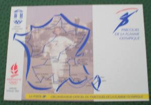 CARTES PARCOURS DE LA FLAMME OLYMPIQUE - ALBERTVILLE 1992