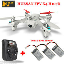HUBSAN X4 H107D 5.8G FPV RC Quadcopter Drone LCD Transmitter Camera+ 3 Batteries