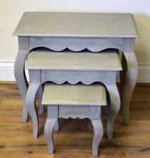 Bourdeilles Solid Mango Shabby Chic Vintage Nest of 3 Tables, Free Delivery!!