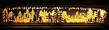 LED 3D-Schwibbogen Sockel 80cm Erhöhung Unterbank Wald-schattiert  Erzgebirge