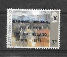 More details for ireland irish 1971 saoirse eireann overprint on british 3p