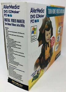 AVer Media DVD EZMaker PCI Card w/ Software Turn Home Videos into DVDs Sealed