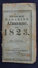 Pittsburgh Pennsylvania Magazine Almanac for 1823