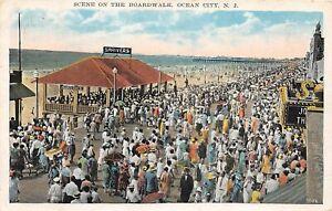 H78/ Ocean City New Jersey Postcard c1931 Boardwalk Scene Crowd  135