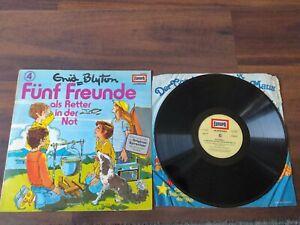 Fünf Freunde 4 Als Retter in der Not Vinyl LP Schallplatte Hörspiel Enid Blyton