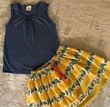 Mini Boden Bird Skirt Outfit Size 9-10
