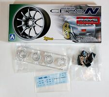 "Aoshima 1/24 Volk Racing CE28N 19"" Wheel & Tire Set Plastic Model 1002 (129)"