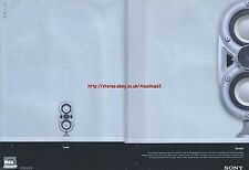 """Sony Pascal Speakers """"Look. Sound"""" 2000 Magazine 2 Page Advert #4245"""