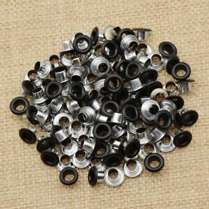 100Pcs Iron Eyelets Rivet DIY Bag Shoes Belt Button Decorative Nail Decor Crafts