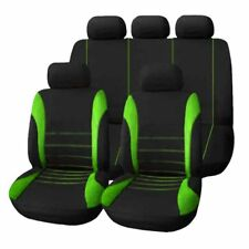 9pcs Universal Car Seat Cover Dustproof Seat Protectors Full Seat Covers Green K
