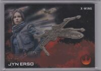 TOPPS STAR WARS ROGUE ONE JYN ERSO SILVER Medallion CARD 45/99