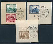 Deutsches Reich Mi-Nr: 450-453 Briefausschnitte gestempelt, Nothilfe Bauwerke