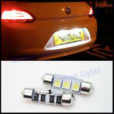 * x2pc 3 SMD LED 36MM 239 CANBUS WHITE NUMBER PLATE INTERIOR LIGHT FESTOON BULB