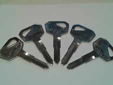 FIVE (5) Kawasaki key blank ZR, ZX, Drifter, Nomad, Ninja, Vulcan & More