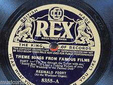 78rpm REGINALD FOORT [ wurlitzer ] THEME SONGS FROM FAMOUS FILMS