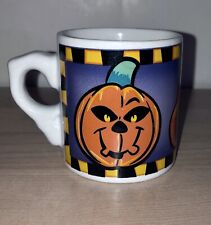 Little Halloween Purple & White Decorative Mug/Cup With Pumpkin Pattern