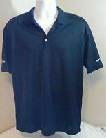 Nike Men's Golf Polo Shirt Short Sleeve Dri-Fit Large Black Cook Logo Free Ship!