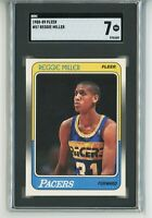 1988-89 Fleer Reggie Miller RC Rookie #57 (Pacers) HOF SGC 7 TUXEDO