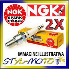KIT 2 CANDELE NGK SPARK PLUG BR8ES MOTO GUZZI Breva Naked 750 2003