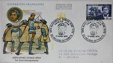 ENVELOPPE PREMIER JOUR - 9 x 16,5 cm - 1970 - ALEXANDRE DUMAS PERE