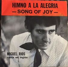 "MIGUEL RIOS CANTA EN INGLES SONG OF JOY / SECOND GLANCE MEXICAN 7"" EP PS WOC"