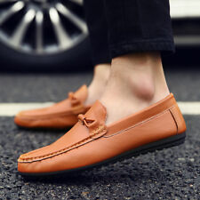 Men's Casual Leather Shoes Driving Lazy Loafers Peas Moccasins Slip on Flats
