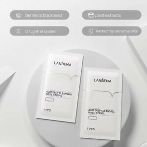 30 Lanbena Aloe Vera Deep Cleansing Nose Strips With Witch-Hazel And Tea Tree