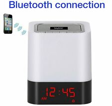 Boytone BT-83CR Portable FM Radio Alarm Clock Wireless Bluetooth 4.1 Speaker