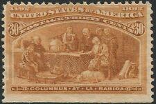 #239  30c ORANGE BROWN COLUMBIAN.  MINT, NO GUM..    ap 137a