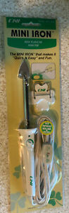Quilting,Crafts,Sewing, Clover CNI Mini Iron With Holder, New