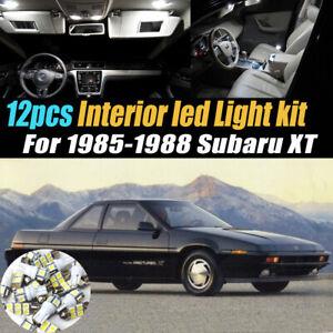 12Pc Super White Car Interior LED Light Bulb Kit for 1985-1988 Subaru XT