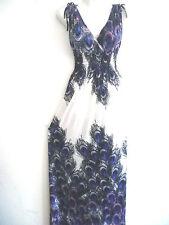 Women Summer Long Maxi BOHO Evening Party Dress Beach Dresses Sundress S/M PURP