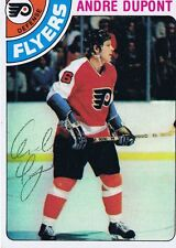 Andre Dupont 1978 Topps Autograph #98 Flyers