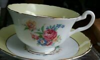 Vintage bone china cup & saucer by Rosina, made in England, 1960s, 1970s