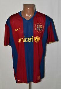 BARCELONA 2007/2008 HOME FOOTBALL SHIRT JERSEY NIKE SIZE 2XL ADULT