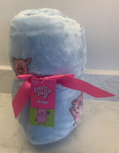 Marks and Spencers Brand New Percy Pig Fleece Throw Blanket 130x170 cm M&S