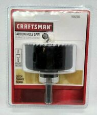 "CRAFTSMAN 2-1/4"" CARBON HOLE SAW WITH QUICK CHANGE SHANK #966289"