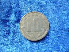 Austria Post War Zinc 10 Groschen 1948 Fine